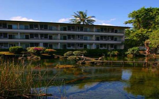 Hilo Seaside Hotel: Rooms around our Japanese Fish Pond