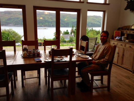 Lochcarron, UK: Breakfast with a view