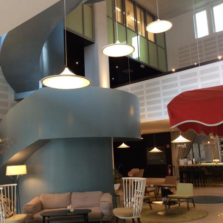 Lund, İsveç: Modern design elements - staircase to conference rooms
