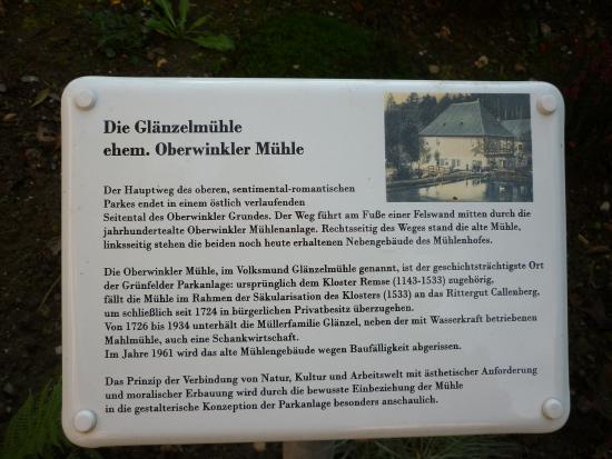 Waldenburg, Германия: Beschreibung zur Glänzelmühle