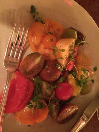 tomato salad heirloom tomato gazpacho heirloom tomato striped bass ...