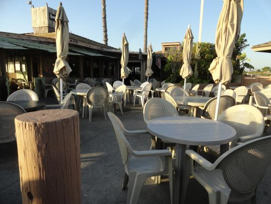 River's End : Patio seating area