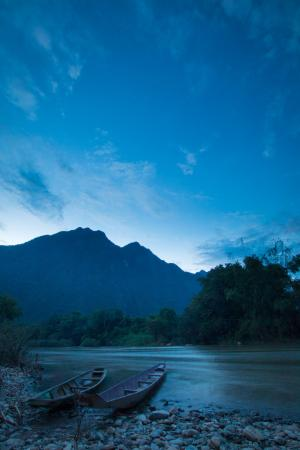 Vang Vieng Eco Lodge: View from just outside the restaurant.