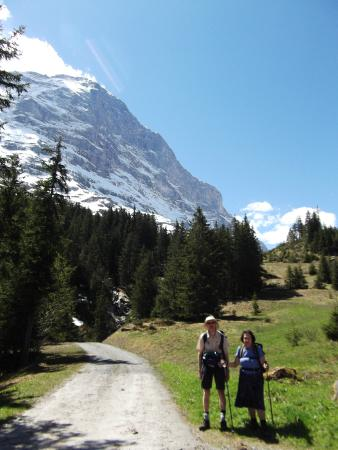 Grindelwald, Suiza: typical scenery on this walk
