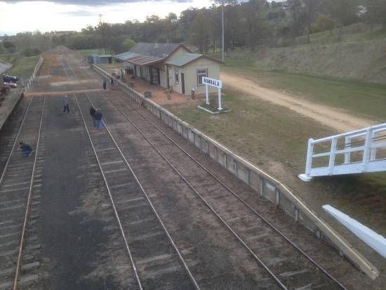 Maneroo Motel : Bombala Station is as it was when trains stopped in 1986