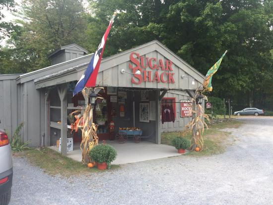 Outside the Sugar Shack
