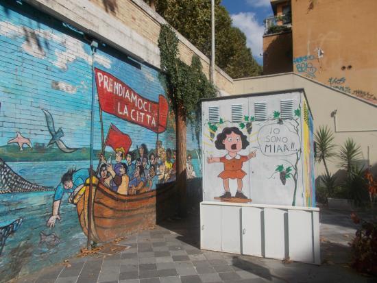 """Murale """"L'asino Che Vola"""""""