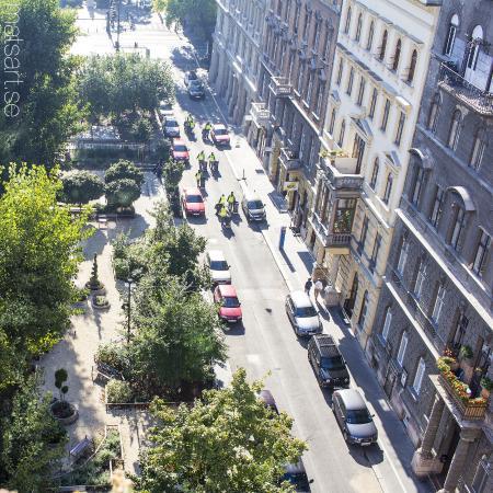 Medosz Hotel: Utsikt från balkongen.