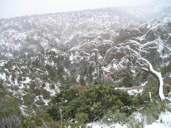 Pearblossom, CA: Snowy Punchbowl