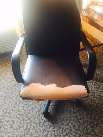 Holiday Inn Express Hotel & Suites Jasper: office chair in our room ... really??