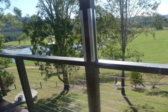 Yabbaloumba Retreat: vue de la terrasse