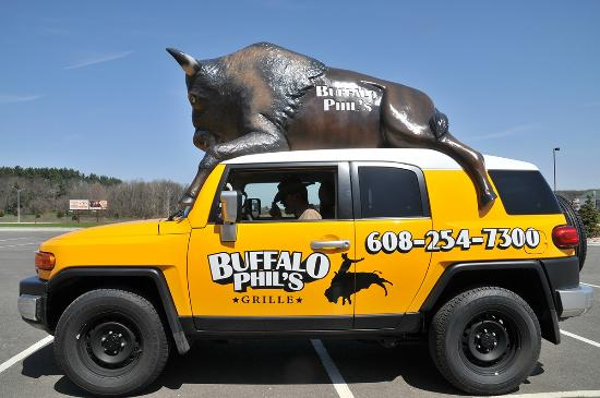Call 608 254 7300 for free delivery picture of buffalo for Phil s fish grill