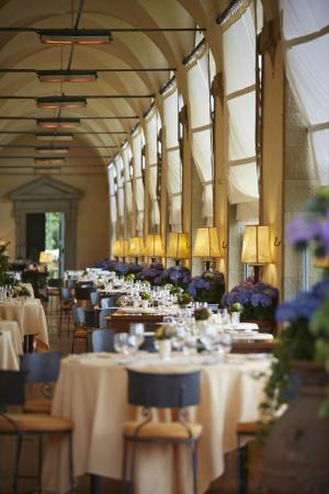 La Loggia Restaurant with breathtaking views of Florence