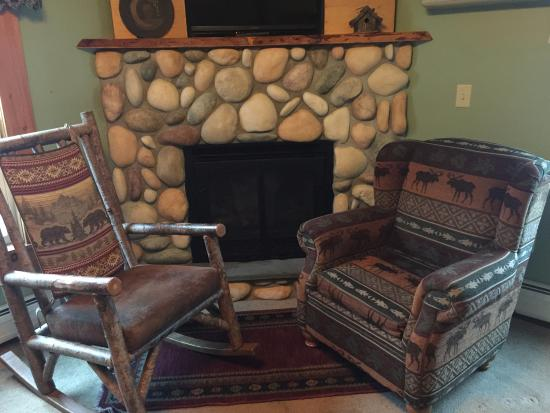 Cobblestone Fireplace cobblestone fireplace in nap a view. highly recommend. - picture