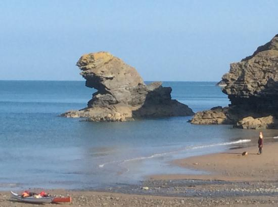 Llangrannog, UK: View from beach