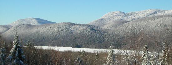 Garnet Hill Lodge: Winter time panarama