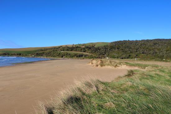 Otago Region, Neuseeland: deserted beach Purakaunui Bay