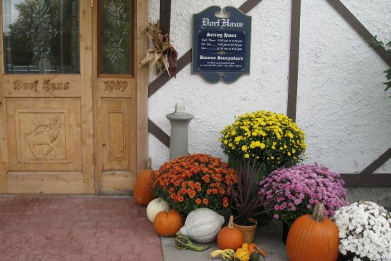 Sauk City, WI: Autumn decorations at the Dorf Haus Supper Club