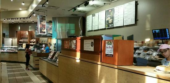 Panera Bread: Interior main counter.