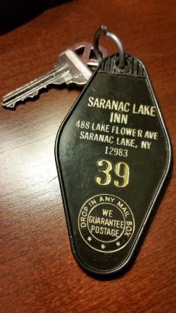 Gauthier's Saranac Lake Inn and Hotel: cool retro keyfob