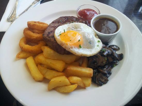 The Grand Cafe: $36 steak meal. Meh