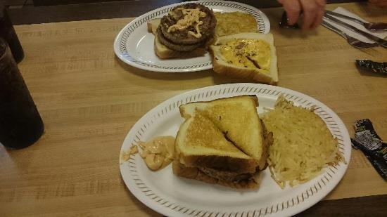 Waffle House: Front Entrance, Menu, Heaven on a plate