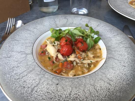 Bel and the Dragon: Rabbit stew with chorizo and white beans, delicious