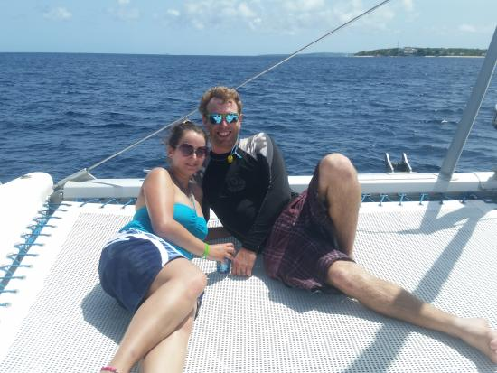 Simpson Bay, St-Martin/St Maarten: Hangin on the tramp of Spellbound