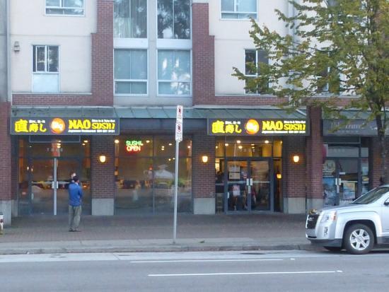Nao sushi: The restaurant