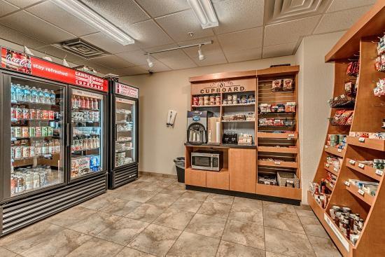 Candlewood Suites Burlington: Our Candlewood Cupboard is well-stocked for Breakfast and snacking
