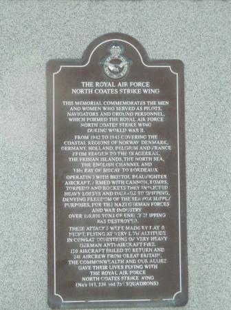 ‪RAF North Coates Strike Wing Memorial‬