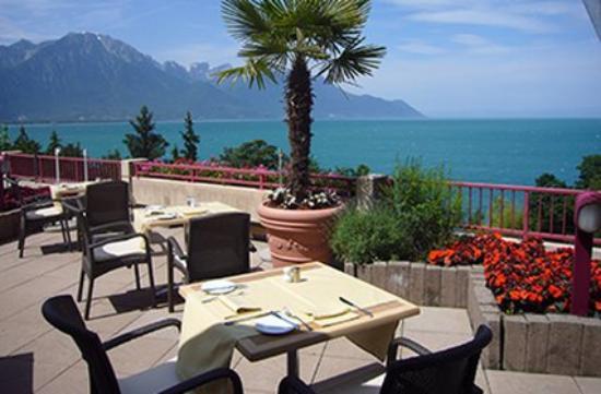 Hotel & Spa Bristol: Terrasse Lac ,Alpes
