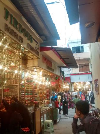 Bright and decked up Laad Bazaar