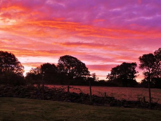 Llandysul, UK: Beautiful Sunrise taken from the Garden
