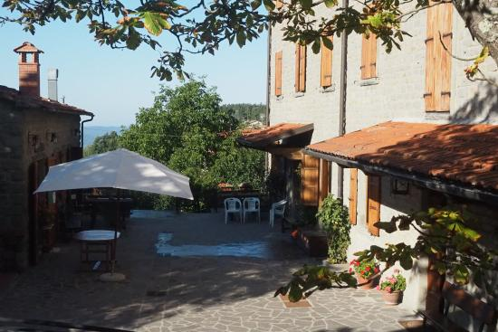 Albergo Ristorante Letizia: Binnenplaats/terras van het hotel