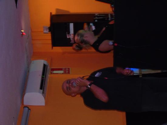 Juke Box Bar: The Juke Box - having a sing