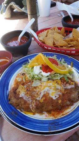 Santa Paula, CA: Best cheese enchilada around.