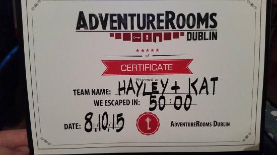 AdventureRooms Dublin: We escaped!
