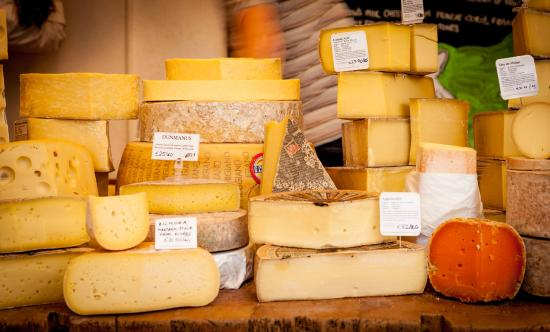 Sheridans Cheesemongers: Hard cheese counter in our shop