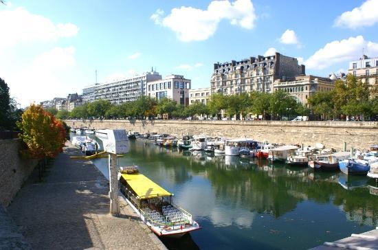 Le port et vue sur la bastille photo de port de l - Port de l arsenal paris ...