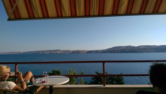 Karlobag, โครเอเชีย: See view from the bar terrace