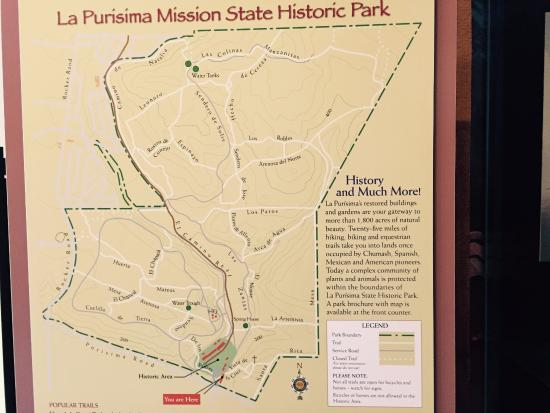 Map Of State Park Picture Of La Purisima State Historical Park - Map of state of la