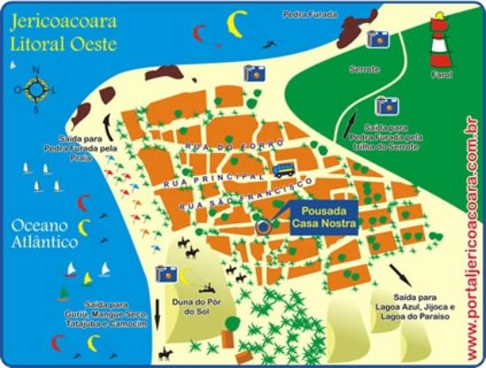 3b27c5649f9ac Mapa de Jericoacoara - Picture of Montaltur Locacao de Vans e ...