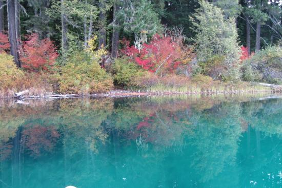 Clear Lake: Clear blue water and fall colors