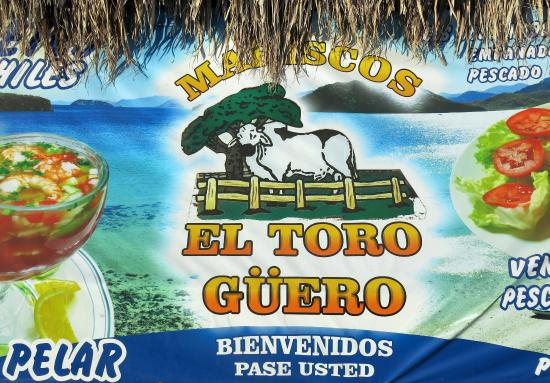 Mariscos el Toro Guero: Вывеска