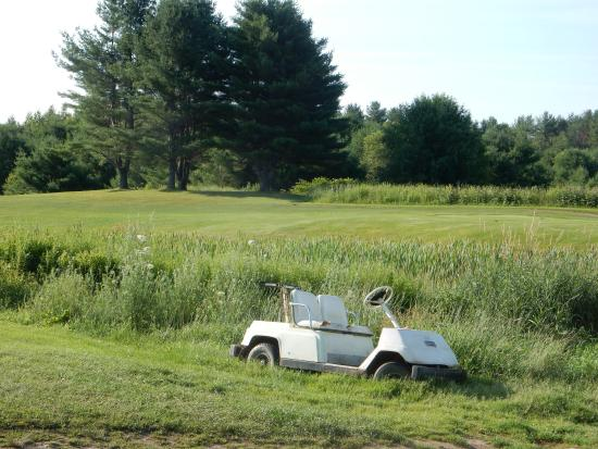 Leeds, ME: This golfer didn't make it in before winter.