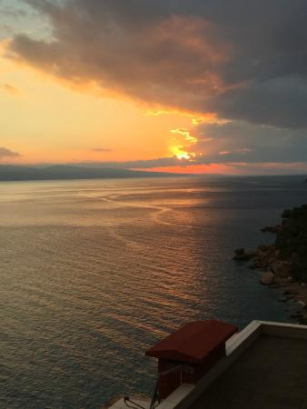 Brac Island, Croatia: Beautiful sunset view after the rainstorm. Amazing! :-)