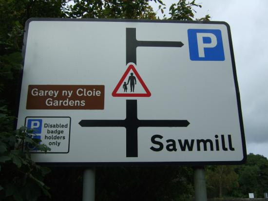 Colby, UK: Road sign