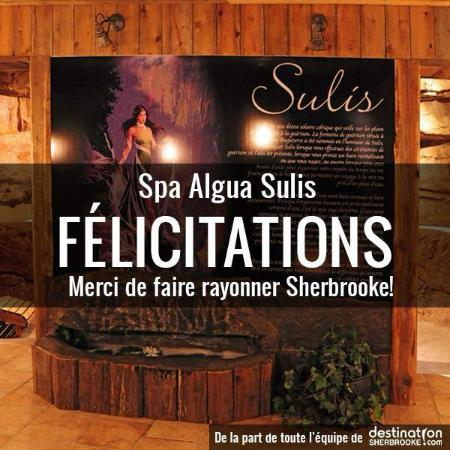 Spa Algua-Sulis: Message de destination Sherbrooke