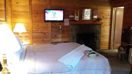 Manzanita Cabins: Cabin 4 . . . Very cozy with fireplace fridge and microwave. Easy walking distance to the center